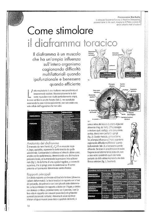 Come-stimolare il diaframma toracico